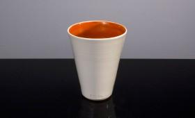 Vit orange kopp